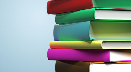 Photo of stack of books